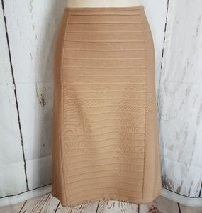Herve Leger m Bodycon Skirt Bandage Style Nude